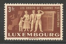 Luxembourg #276 (A47) VF MLH - 1951 3fr People Of Europe & Charter Of Freedom