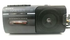 SONY CFM-10 Portable Mini Boombox AM/FM Cassette Player/Recorder AC/DC with MIC