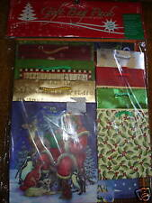 Christmas Gift Bag Pack with matching Tissue Paper