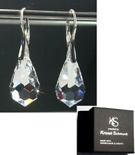Kristall Schmuck Silber Ohrringe mit Swarovski® Kristallen glitzernd in Etui