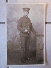WW1 Era R.A.M.C. Soldier Postcard. Private in Naturalistic Setting. Unposted.
