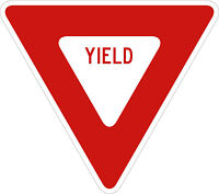 YIELD SIGN Vinyl Decal / Sticker ** 5 Sizes **