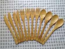 Bamboo Cutlery Set of 12 With Logo