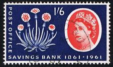 Gb Sc# 381 = 1961 1/6' Savings Bank Centennial = Used Vf