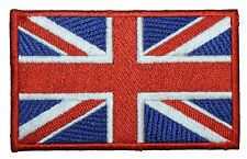 Union Jack British England Flag Red Border Embroidered Patch 10cm Iron/Sew on