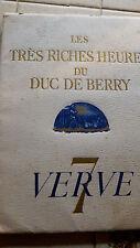 """Les très riches heures du Duc de Berry """" Le Calendrier XVe siècle """" Verve - N° 7"""