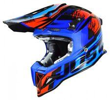 JUST1 J12 DOMINATOR MOTOCROSS MX OFF ROAD ENDURO CRASH HELMET BLUE CARBON FIBRE