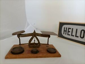Vintage ! POSTAL SCALES SET With Original Weights Made in England Free Postage
