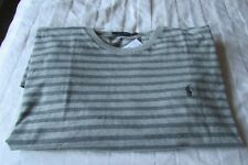RALPH LAUREN POLO T SHIRT STRIPE GREY LONG SLEEVED XL NEW WITH TAGS RRP £55