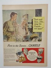 Original Print Ad 1944 CAMELS First in the Service Grandma Home on Furlough