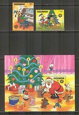 Grenada #1412-1413/1415, 1986 Christmas - Walt Disney Characters, Unused NH