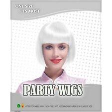 Perruques et toupets blancs raides pour femme