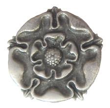 Tudor Rose Pewter Pin Badge - LP1224