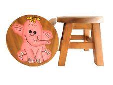 Kinder Kinder Holz Hocker-rosa Elefant Design Schritt Hocker