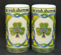 The Irish Shamrock, Clara Irish Weave Salt and Pepper Shaker Set, Ceramic