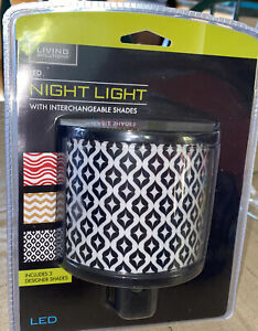 New Living Solutions LED Night Light Plug In with 3 Interchangeable Shades