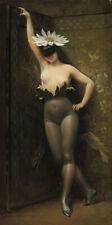 NAKED FLOWER WOMAN Albert Joseph Penot painting ART CANVAS PRINT