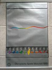Original vintage Munich 1972 Olympic Games Poster Shusaku Arakawa
