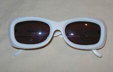 Rare Vtg 90's Emmanuelle Khanh White Retro Designer Sunglasses Made In France