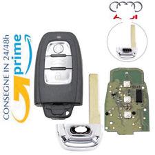 Chiave Telecomando CHIP ELETTRONICA PER AUDI A4 A6 Q5 A8 Q5 ITALIA + LOGO ID46