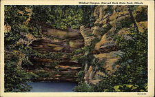Starved Rock State Park Illinois Amerika Color AK 1959 gelaufen Wildcat Canyon