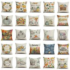 Fall Halloween Pumpkin Pillow covers Waist Throw Cushion Cover Sofa Home Decor