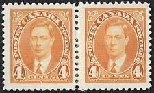 Canada    # 234 Pair   King George VI Issue   New Issue 1937 Pristine Gum