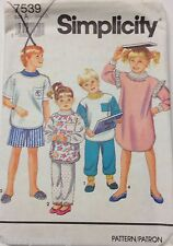 Simplicity Sewing Pattern # 7539 Child's Pajamas and Nightshirt Sizes S, M, L