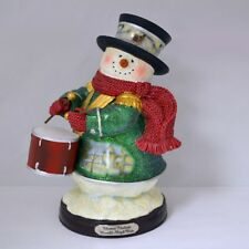Thomas Kinkade Figurine - Moonlit Sleigh Ride Snowman New  Item 1513888020 COA