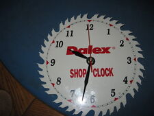 DALEX White Enameled Advertising Saw Blade with new clock works