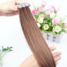 20pcs/lot 16-26inch PU Skin Weft Tape in 100% Remy Human Hair Extensions 8A