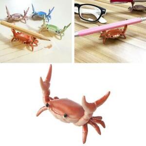 Weightlifting Crab Pen Holder Storage Ornaments Desktop Decoration