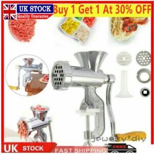 Manual Meat Grinder Mincer Stuffer Hand Sausage Sauce Maker Machine Filler Tool/