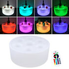 LED RGB Color Change Champagne Beer Tray Keep Cold Bar Party Wine Glass Holder