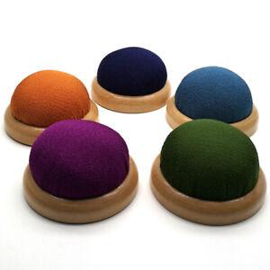 DIY Needle Pin Cushion Wood Holder Cross stitch Sewing Kit Home Supplies Craft