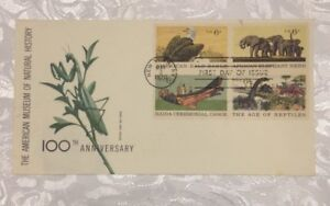 Museum of Natural History 100th Anniversary 6c Stamps FDC MNH Cachet Sc#1387-90