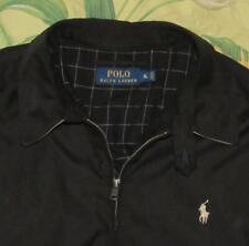 Mens Polo RALPH LAUREN Black Plaid Lined Mircrofiber Jacket XL