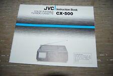 JVC CX-500 portable TV Cassette Radio Original Manual Instructions Book