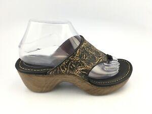 Ariat Leather heeled Thong  Platform sandals 10007629 Women's Sz 7 B