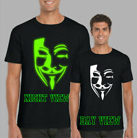 Anonymous Glow In The Dark T-Shirt, Funny Novelty Gifts Kids & Adults Tee Top