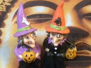 Set of Adorable and Funny Halloween Witches