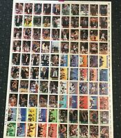 1992-93 Hoops 100 Card Michael Jordan Chicago Bulls Factory Uncut Sheet Rare! *8