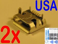 """2x Micro USB Charging Charger Port for Sprout Channel Cubby 7"""" Kids Tablet USA"""