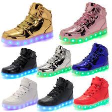 7 Colors Kids Boys Girls Women Men LED Light Up shoes Luminous USB Sneakers Gift