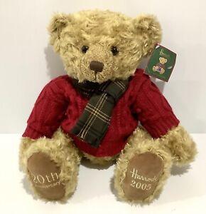 "Harrod's 2005 Christmas Bear 20th Anniversary - With Tag 13"" / 33cm - Nicholas"