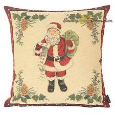 Dekokissen Zierkissen Weihnachtsmann Nikolaus Kissenbezug Gobelinkissen Gobelin