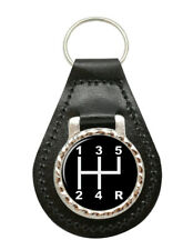 Gear Stick Leather Key Fob