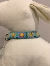 UpCountry Sunflowers Teacup Collection Dog Pet Collar Size 12 NWT
