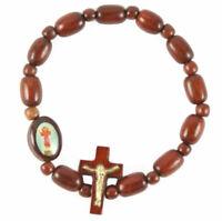 Divine Child / Pulsera Del Nino Jesus Wood Beads Rosary Bracelet, Made in Brazil