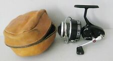 Vintage GARCIA MITCHELL 300A Spinning Reel w/ Garcia Corp Zippered Leather Case